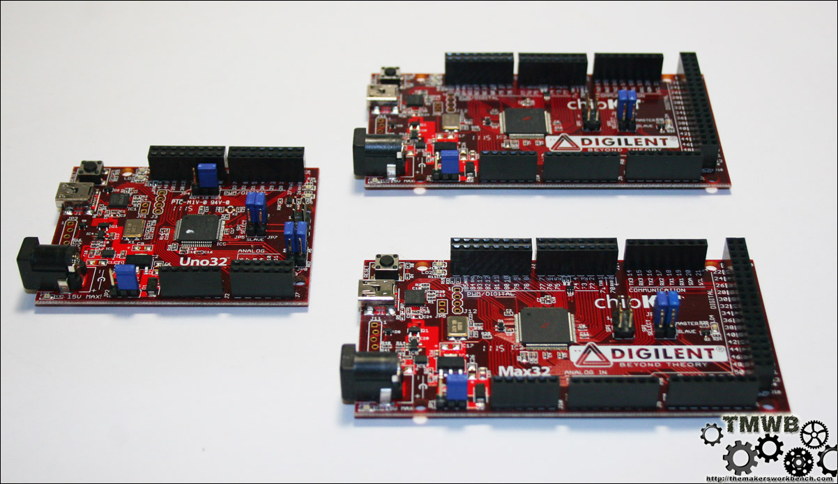 Digilent and Microchip chipKIT boards