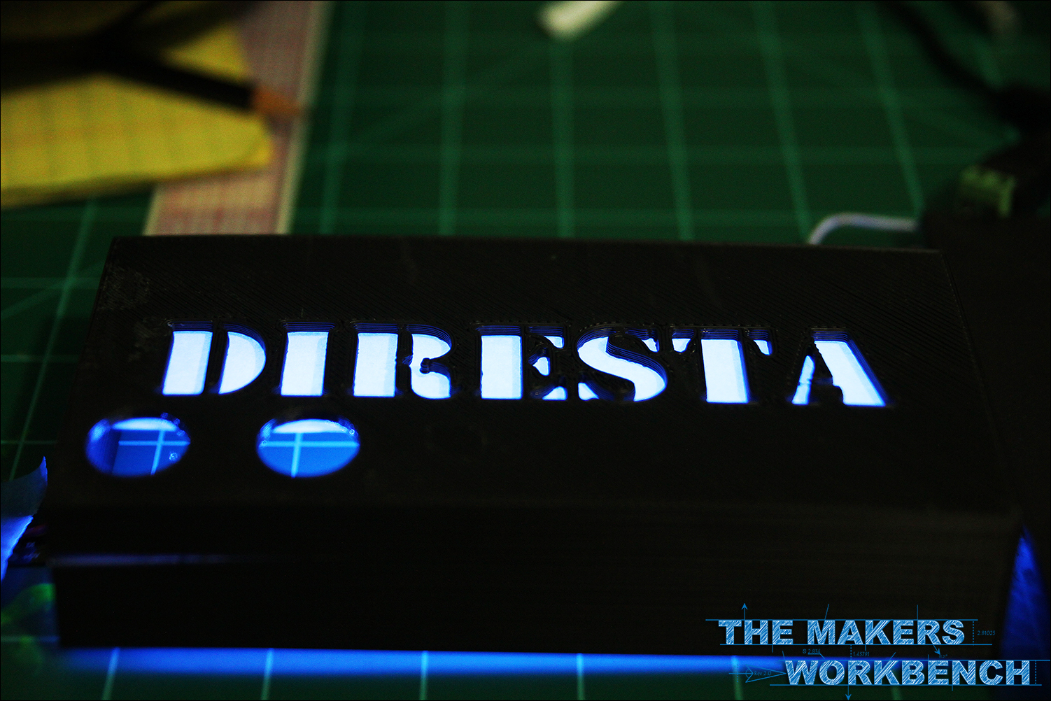 HC-SR04 + Arduino + NeoPixels = an awesome Distance Triggered Illuminated DIRESTA Sign
