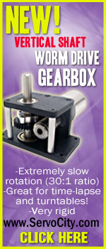 Visit ServoCity.com for all your servo and gear motor needs. 