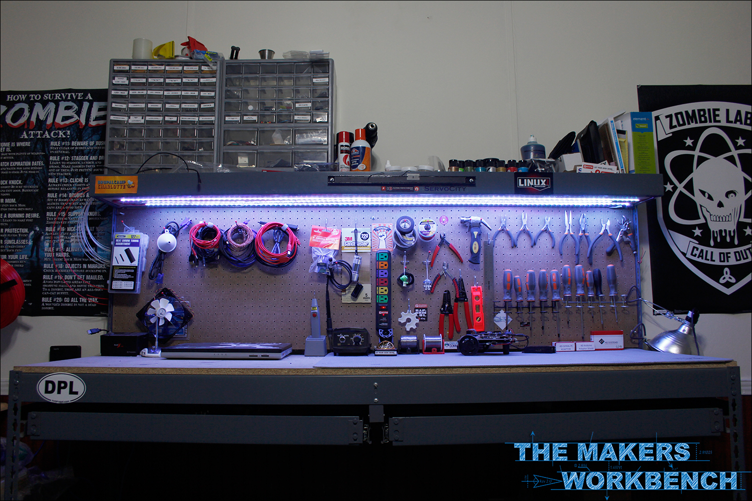 Diy led strip Kitchen Rgb Led Undershelf Bench Lighting The Makers Workbench Rgb Led Undershelf Bench Lighting The Makers Workbench