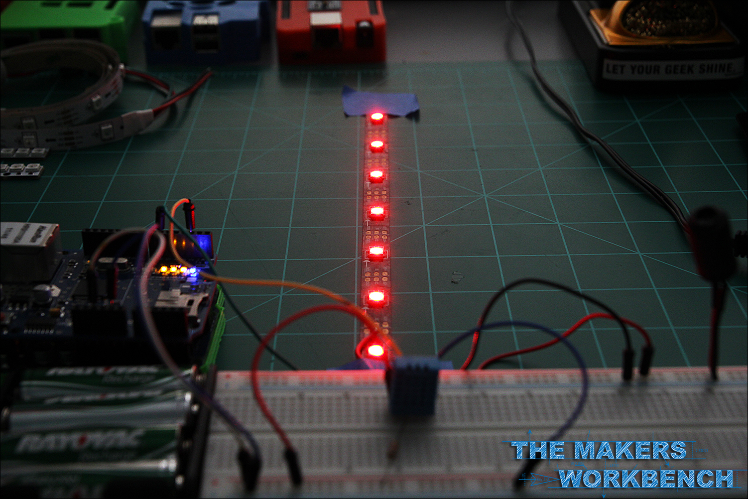 DHT11-Based Temperature Monitoring using Ethernet and NeoPixels via Arduino.