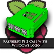 3D Printable Raspberry Pi 2 Case with Windows 10 Logo!