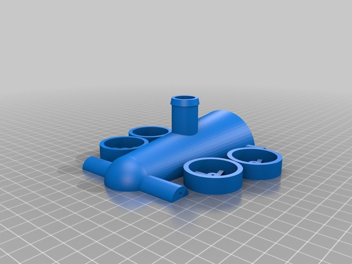 3D Printed Balloon Powered Jet Car with printable wheels by