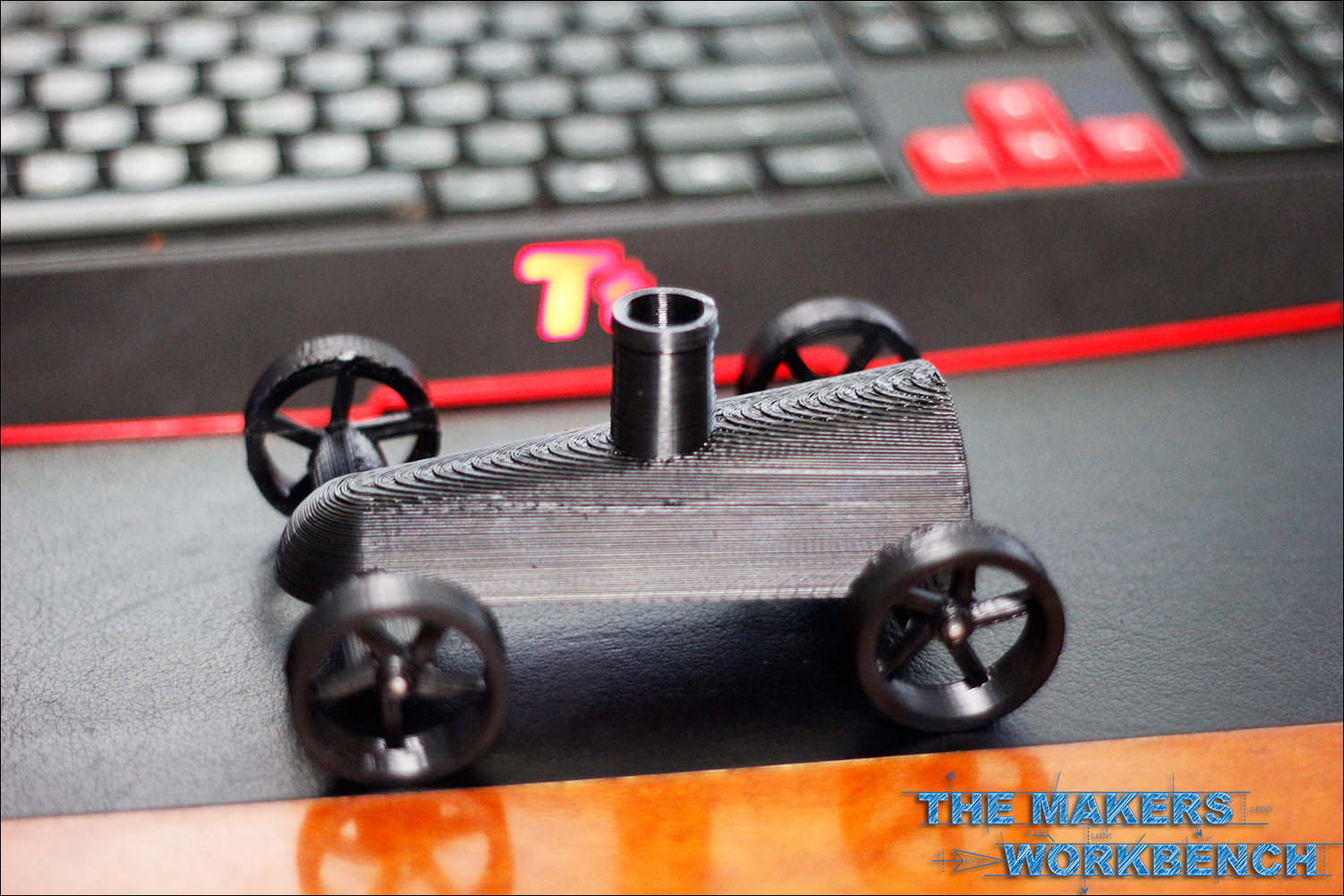 Balloon powered jet car with printable wheels the makers workbench
